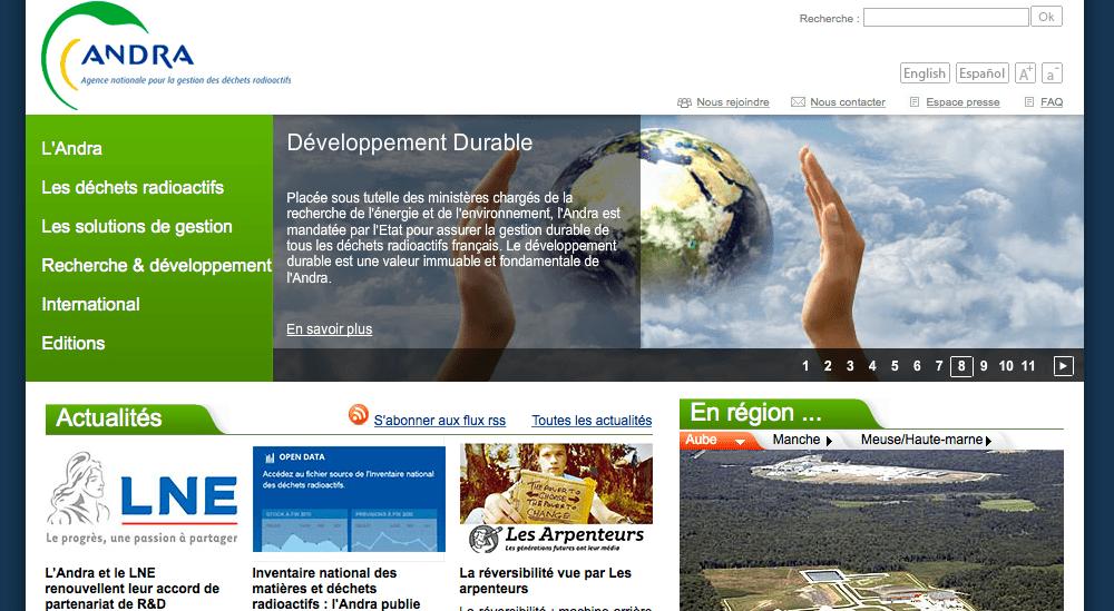 ANDRAのホームページは、誰にもわかりやすく、また、仏語の他、英語・スペイン語にもなっている。