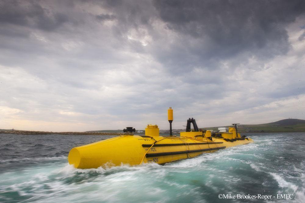 欧州海洋エネルギー研究所(EMEC、在スコットランド、オークニー諸島)で実用実験が進む海洋エネルギー装置
