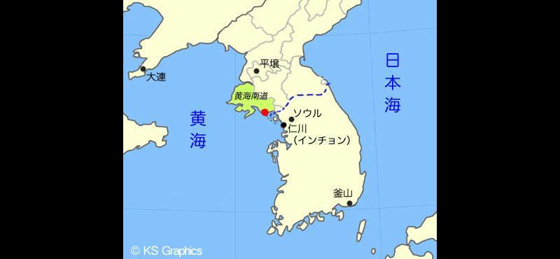 朝鮮半島の地図