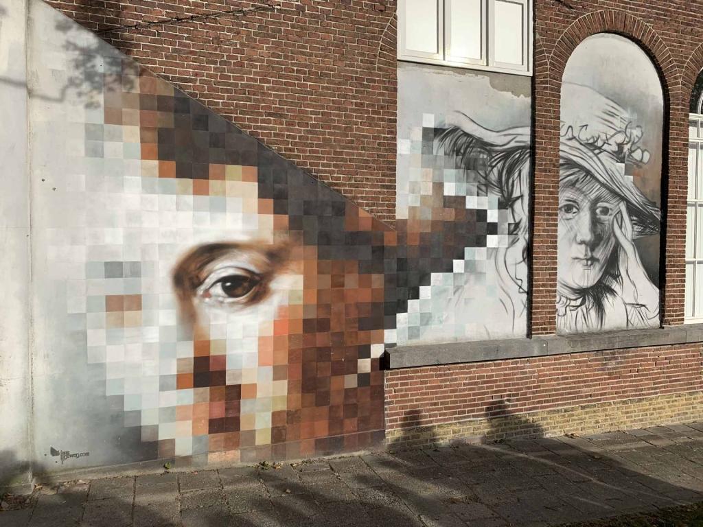 レンブラントの絵の壁画 © RENZ, Franz