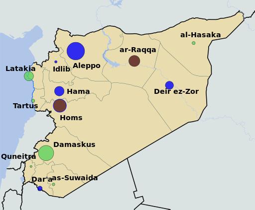 多くの戦闘が繰り広げられてきたシリア。安田さんはトルコ国境から、シリア北西部のイドリブ(Idlib)県に入り、そこで拘束されていたとみられる。© NordNordWest Spesh 531 – Creative Commons